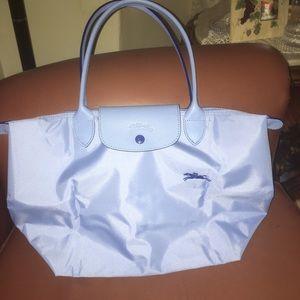 Blue long champ purse